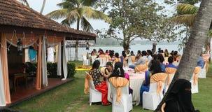 Mensen in de Functie Kerala India stock video