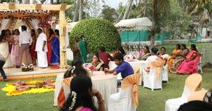 Mensen in de Functie Kerala India stock footage