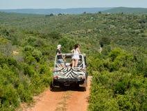 Mensen in de jeep Royalty-vrije Stock Foto's