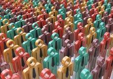 Mensen, de maatschappij en het sociale media Web van netwerkinternet www commun Stock Afbeelding