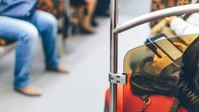 Mensen in de metro Stock Afbeeldingen