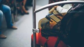 Mensen in de metro Royalty-vrije Stock Fotografie