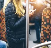 Mensen in de metro Royalty-vrije Stock Afbeeldingen