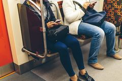 Mensen in de metro Royalty-vrije Stock Afbeelding