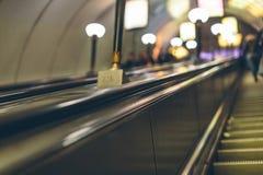 Mensen in de metro in Europa Royalty-vrije Stock Foto's