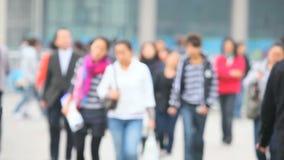 Mensen in de straat van Shanghai stock footage