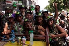 Mensen in de straten van Rio de Janeiro tijdens Carnaval Stock Afbeelding
