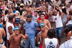 Mensen in de straten van Rio de Janeiro tijdens Carnaval Stock Foto