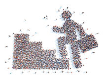 Mensen in de vorm van de mens Stock Foto's