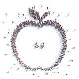 Mensen in de vorm van een appel Stock Afbeelding