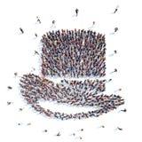 Mensen in de vorm van een hoed Royalty-vrije Stock Afbeelding
