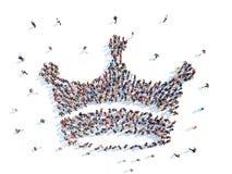 Mensen in de vorm van een kroon Royalty-vrije Stock Foto's