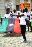 Mensen demonstratie-Indigenious van Biafra Stock Fotografie