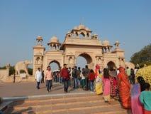 Mensen die Anand Vihar bezoeken bij shegaon-2 Stock Foto