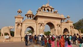 Mensen die Anand Vihar bezoeken bij shegaon-3 Stock Foto's