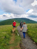 Mensen die Appalachian Sleep wandelen Royalty-vrije Stock Fotografie