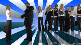 Mensen die Bedrijfsconcept samenwerken stock video
