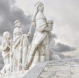 Mensen die bij Monument Sagrado Corazà ³ n bidden Stock Foto's