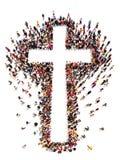 Mensen die Christendom vinden, stock illustratie