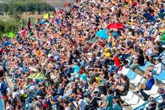 Mensen die de race van Wereldsuperbike, 2016 zien royalty-vrije stock foto's