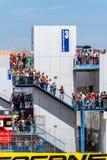 Mensen die de race van Wereldsuperbike, 2016 zien stock afbeeldingen