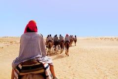 Mensen die door kameel bevrijden Royalty-vrije Stock Foto's