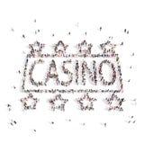 Mensen die in een casino lopen het 3d teruggeven royalty-vrije illustratie