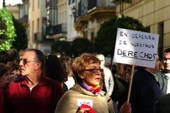 Mensen die in een demonstratie 15 marcheren royalty-vrije stock foto's