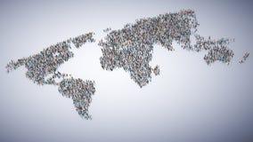 Mensen die een wereldkaart vormen Royalty-vrije Stock Foto