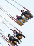 Mensen die het vliegen hoge hoogte Royalty-vrije Stock Foto's