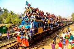 Mensen die naar de Globale Congregatie van Ijtema gaan Royalty-vrije Stock Fotografie