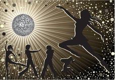 Mensen die in night-club dansen Stock Foto