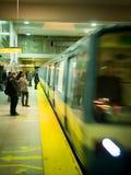 De motie van de Metro van Montreal stock foto's