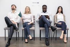 Mensen die op Job Interview Concept wachten Royalty-vrije Stock Afbeeldingen