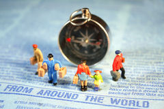 Mensen die rond de Wereld reizen Stock Foto's