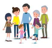 Mensen ` die s zich life_family verzamelen royalty-vrije illustratie