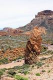 Mensen die steen formation roques DE Garcia bezoeken Stock Foto