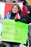 Mensen die tegen Immigratiewetten protesteren royalty-vrije stock fotografie