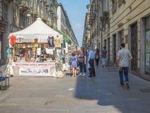 Mensen die Turijn bezoeken Royalty-vrije Stock Afbeeldingen