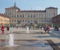 Mensen die Turijn bezoeken Stock Afbeeldingen