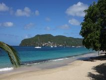 Mensen die van een mooi strand in de Caraïben genieten stock footage