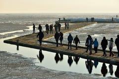 Mensen die Vente-Kaap bezoeken Stock Foto