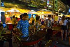 Mensen die xylofoon spelen Stock Foto