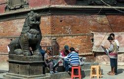 Mensen in Durbar-Vierkant Royalty-vrije Stock Fotografie