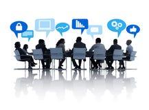 Mensen in een Commerciële Vergadering Royalty-vrije Stock Fotografie