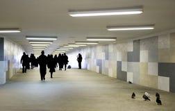 Mensen in een metro. Royalty-vrije Stock Foto's
