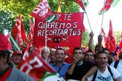 Mensen in een protest 11 maart Royalty-vrije Stock Foto's