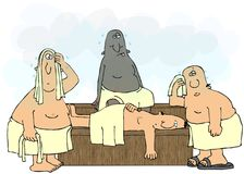 Mensen in een Sauna stock illustratie