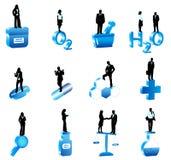 Mensen en apotheek stock illustratie