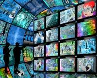 Mensen en de schermen Royalty-vrije Stock Afbeeldingen